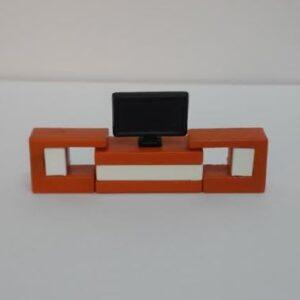 tv ünitesi turuncu